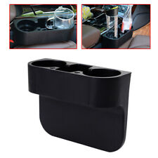 Car Auto Truck Central Storage Box Drink Cup Holder Organizer Black Accessories