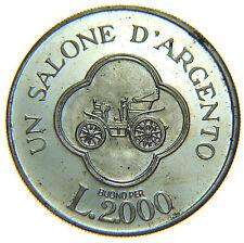 [NC] GETTONE BUONO 2000 LIRE SALONE DELL'AUTOMOBILE TORINO 1972 ARGENTO (nc2098)