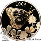 Canada 2004 50 Cents Clouded Sulphur Butterfly Silver Coin