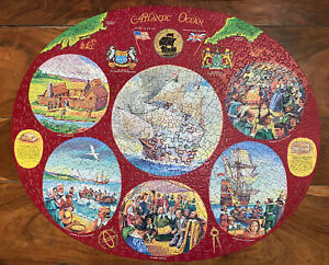 Waddingtons Mayflower elliptical jigsaw VINTAGE 600 pieces COMPLETE: No Booklet