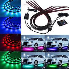 7 Color Underbody Under Car LED Strip Light Kit + Remote + Sound Activate effect