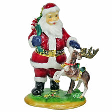 RUCINNI Santa Claus and A Deer  Trinket Box