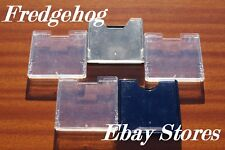 A PACK OF 5 x EMPTY MINIDISC / MINI DISK INDIVIDUAL STORAGE CASES / BOXES
