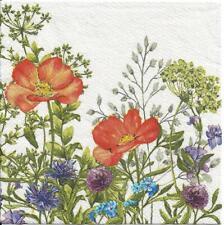 Lot de 4 Serviettes en papier Champs de Fleurs Decoupage Collage Decopatch