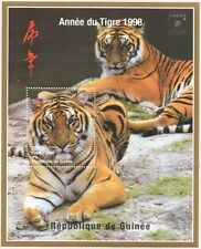 CHINESE HOROSCOPE YEAR OF THE TIGER GUINEE 1998 MNH STAMP SHEETLET