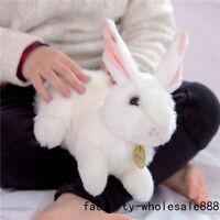 27cm Giant Big White Bunny Rabbit Toy Stuffed Animals Plush Soft Doll Handmade @