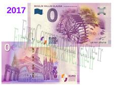 Billet Touristique souvenir Zéro Euro France 2017 Moulin Vallis Clausa !