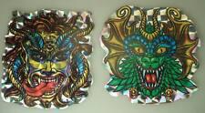 2x alte Grusel Dämon  Rainbow Aufkleber 1970er Jahre Glitzer Sticker 9cm x 10cm