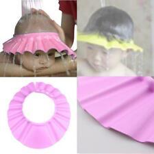 Adjustable Shower Cap Baby Kids Child Bath Shampoo Shiled Hats Wash Hair Pink KJ