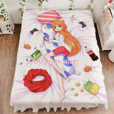 Himouto Umaru-chan Doma Anime Girl Bed Sheet Summer Quilt Blanket Bedding