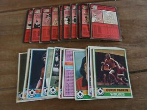 40 Topps Red Backed Football Cards - 1977! - All Different! Good Condition!
