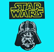 2 LOT STAR WARS Darth Vader Dark Force  Embroidered Iron Sew On Patch FREE SHIP