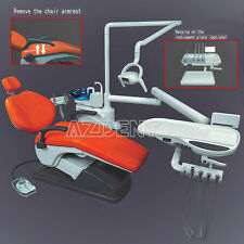Top Dental Unit Chair Computer Controlled w/Handpiece Tubing Auto Water Red UK