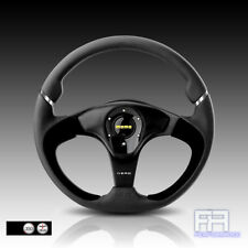 MOMO NERO 350mm Tuning Steering Wheel + Horn - Black Leather Black Spoke