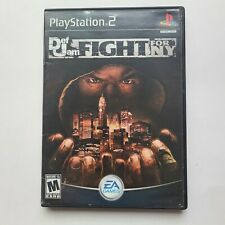 Def Jam Fight for NY PS2 case & manual, no game disc Playstation 2 black label