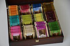 Sir William's TEA  - TEE SELECTION 180 Teebeutel + HOLZ BOX  ( 12 Sorten Tee )