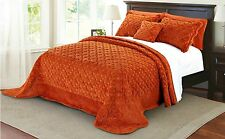 Serenta Faux Fur Quilted Tatami 4 PCs Bedspread Set Queen and King