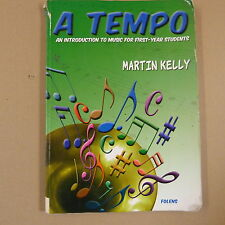books A TEMPO introduction to music for fist year students, Martin Kelly 2 CDs