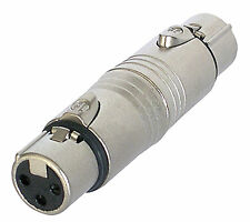 NEUTRIK XLR (CANNON) - Gender Changer / Adattatore-Femmina XLR a femmina XLR