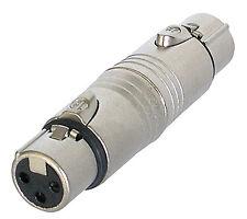 Neutrik XLR (Cannon)  - Gender Changer / Adaptor - Female XLR  to Female XLR