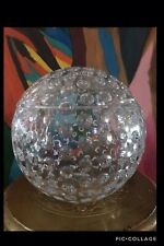 Vintage Lucite Acrylic Ice Bucket Golf Ball Sphere Design Retro
