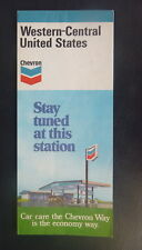 1977 Western & Central United States  road map Chevron map gas