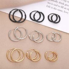 Trendy Charm Women Men's Geometric Circle Earrings Stud Hoop Drop Dangle Jewelry