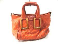 Auth Chloe Ethel Brown Leather Handbag