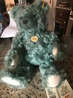 Steiff Classic Genuine Mohair Green Teddy Bear
