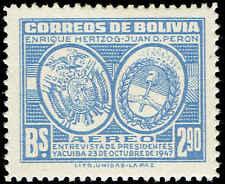 Scott # C118 - 1947 - ' Arms of Bolivia & Argentina '