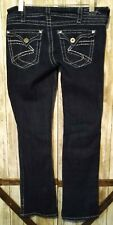 Silver Jeans Size W31/L32 McKenzie Slim Bootcut Denim Diamond Studs Split Cuffs
