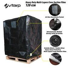 vtarp ®  UK Pallet Cover 120 GSM Heavy Duty Waterproof Fitted Reusable Cover