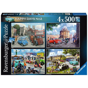 Ravensburger York, Oxford Brighton & Cotswolds Jigsaw Puzzles 500 Piece Set of 4