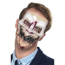 Blood Smile Horror Scary Halloween Face Mask Mens Ladies Fancy Dress