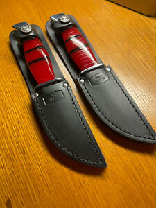 Buck 212 knife, Red Lucite with W2 steel.