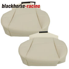 For 2007 2014 Cadillac Escalade Beige Driveramppassenger Bottom Leather Seat Cover