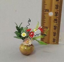 Dollhouse miniature 1/12th scale arrangement in hand blown glass vase