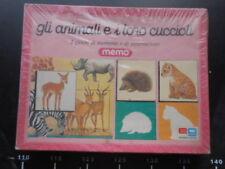 GIOCO SOCIETA Memo Animali Cuccioli Editrice Giochi Board Game EG Vintage