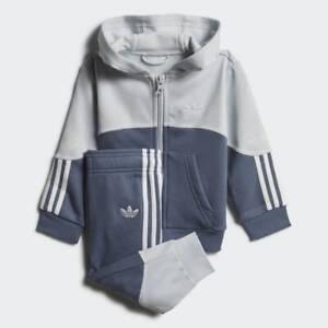 adidas Originals infant Outline blue hooded tracksuit. Various sizes!