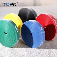 TOPK 5M Cable Organizer Wire Winder Cable Management Reuseable 5 Colors fr PC TV