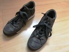 ! wie neu ! Ara Damen Sneaker grau Glitzer, Strass Gr. 37