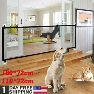Magic Mesh Gate Folding Safety Guard Door Fence Net Stairs Pets Dog Puppy Baby