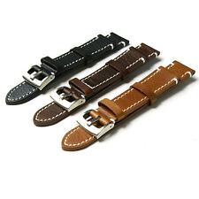 PU Leather Vintage Wrist Let Watch Band Strap Black Brown Width 18 20 22mm