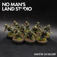 Pro Painted 28mm Bolt Action German Waffen ss (oak leaf camo) squad ×10 Ww2