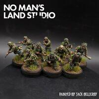 Pro Painted 28mm Bolt Action German Waffen ss (oak leaf camo) squad ×10 Ww2