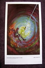 KELLY FREAS CLASSICS OF SCI FI PRINT SECOND KIND OF LONELINESS SIGNED