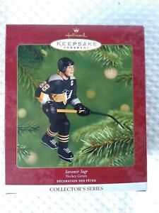 NHL Keepsake Hallmark Ornament Jaromir Jagr Hockey Greats Pittsburgh Penguins