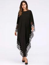 Abaya Long Dress Maxi Dubai Bat Sleeve Kaftan Robe Embroidery Vintage Cocktail