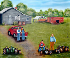 Burlon Craig Folk Art 11 x 14 Print Red Shirt Pottery Kiln Americana Arie Taylor