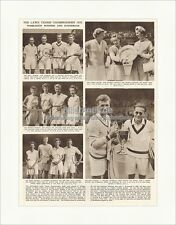 Wimbledon Winners and Runners-Up 1952 Tennis Connoly Kent Pokal The Empire 5136